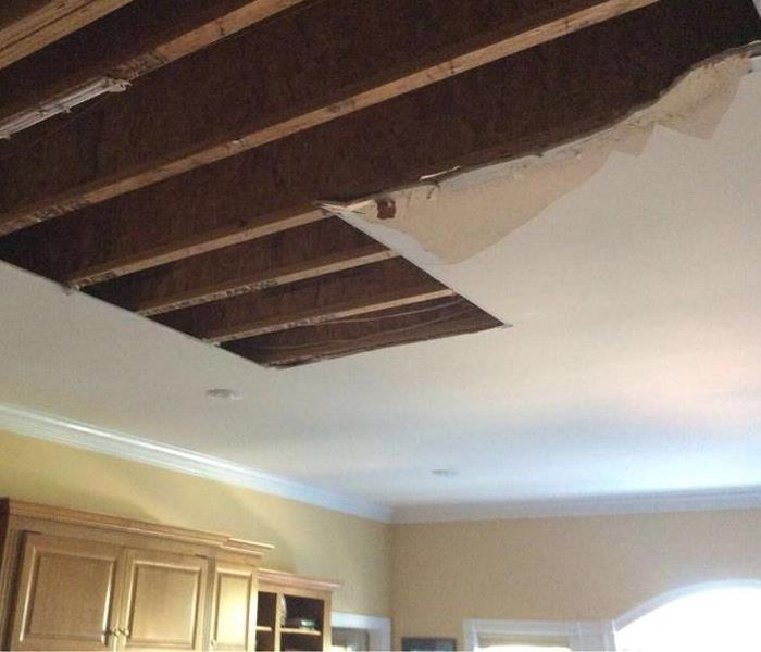 Ceiling Collapse After Upstairs Water Damage After
